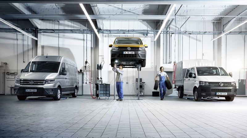 service merkeverksted VW Volkswagen varebiler Crafter Caddy Transporter pickup unormal slitasje leasingbil leasing