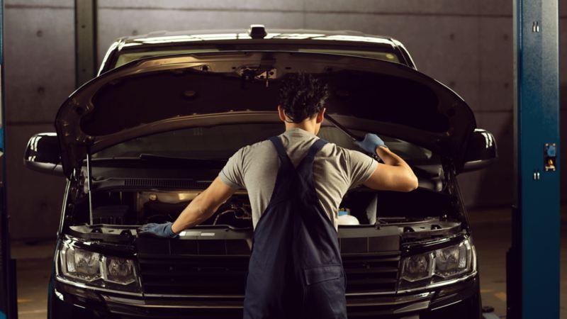 service merkeverksted VW Volkswagen varebiler Crafter Caddy Transporter pickup