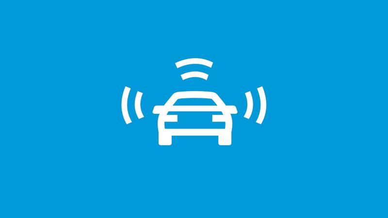 Sistema di controllo perimetrale Front Assist con funzione di frenata di emergenza City - VW Veicoli CommercialiCity