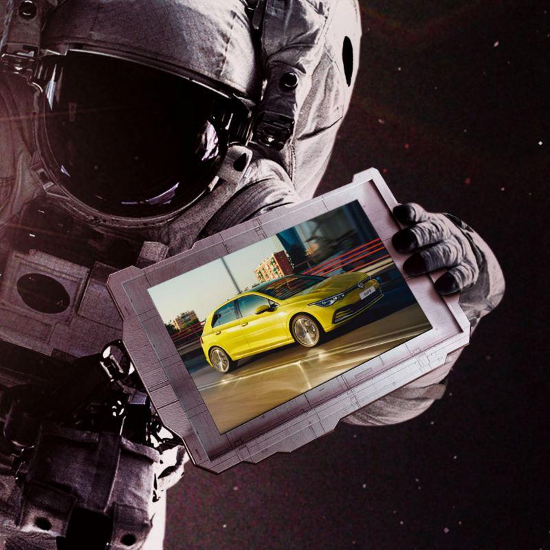 Astronauta Golf nello spazio