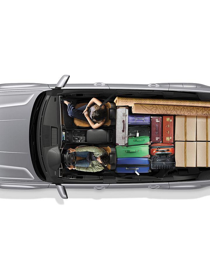One row configuration with maximum luggage capacity