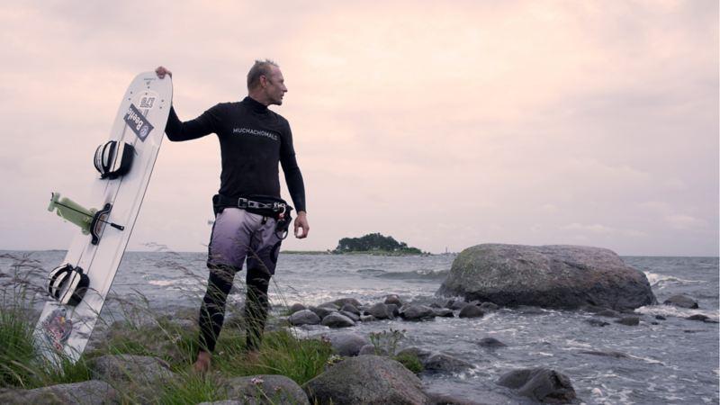 Atte Kappel, professionell kitesurfare