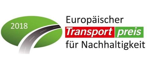 "Il logo dello ""European Transport Award for Sustainability""."