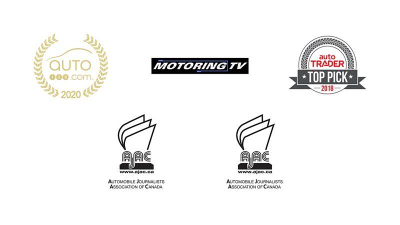 Collage of award logos
