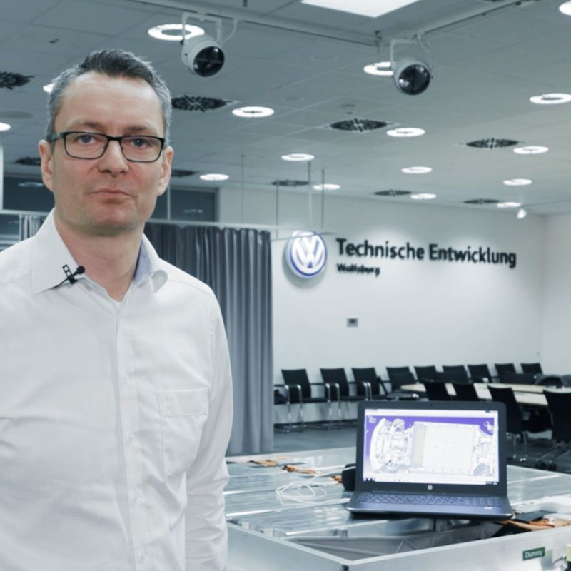 Norman Tenneberg in Wolfsburg at the technical development