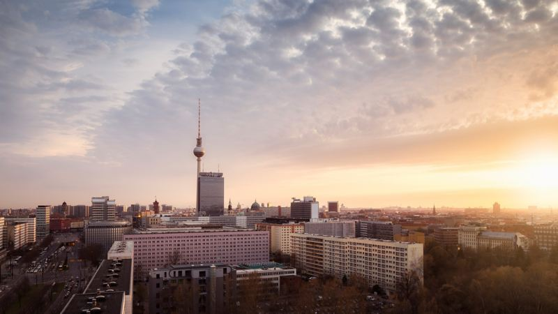 The view over Berlin with the TV Tower