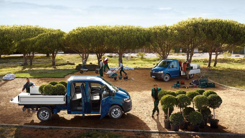 Transporter Pick-up blauw tuinen
