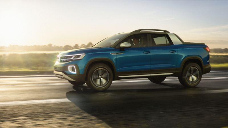 Tarok concept, la camioneta pick up con diseño inteligente corriendo sobre carretera