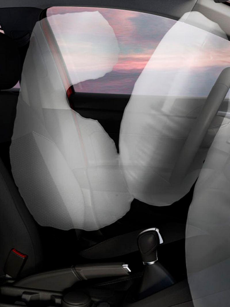 4 bolsas de aire de Nuevo Virtus de Volkswagen