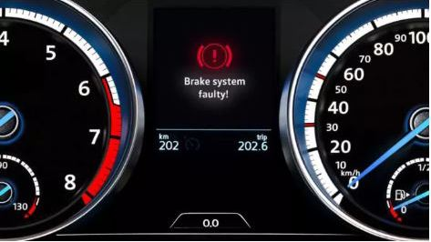 Volkswagen Brakes warning light for brake system faulty