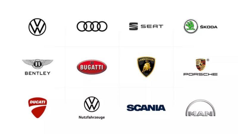 Les marques de commerce appartenant au groupe Volkswagen
