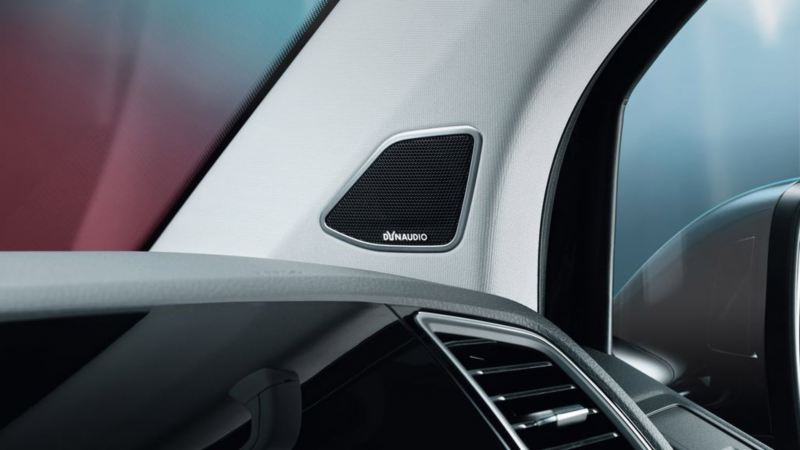 dynaudio lydsystem høytaler vw Volkswagen varebil Multivan