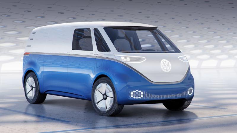 Volkswagen ID. Buzz Cargo konceptbil framifrån