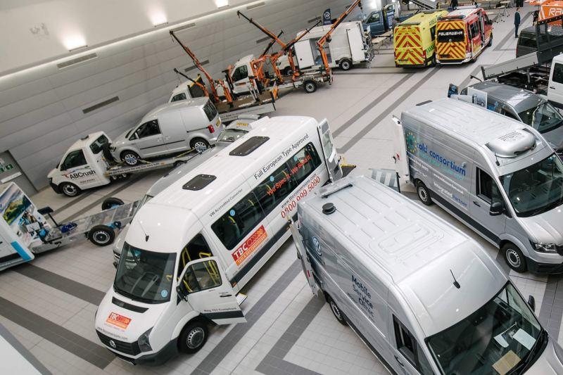 Conversion fleet in showroom