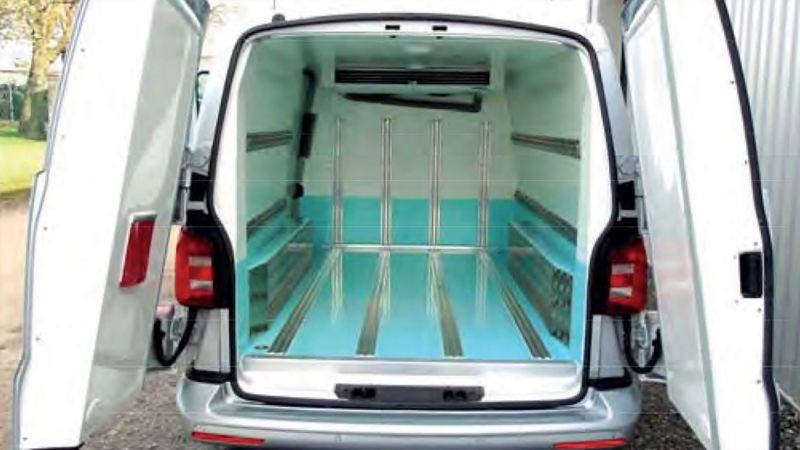 Refrigerated conversion of VW Transporter van