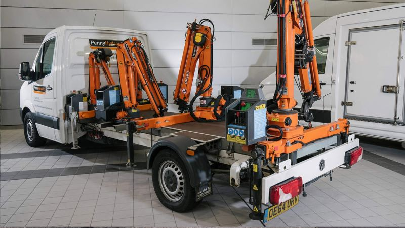 VW Crafter hydraulic crane conversion