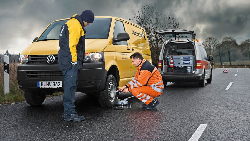 Roadside recovery technicians at work