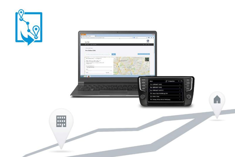 fleet management software on laptop