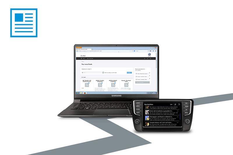 VW fleet telematics software on laptop