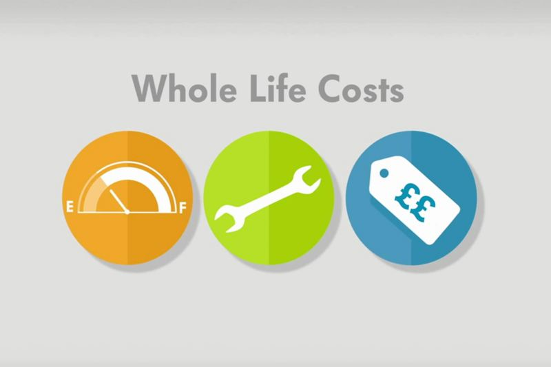 VW fleet whole life costs icons