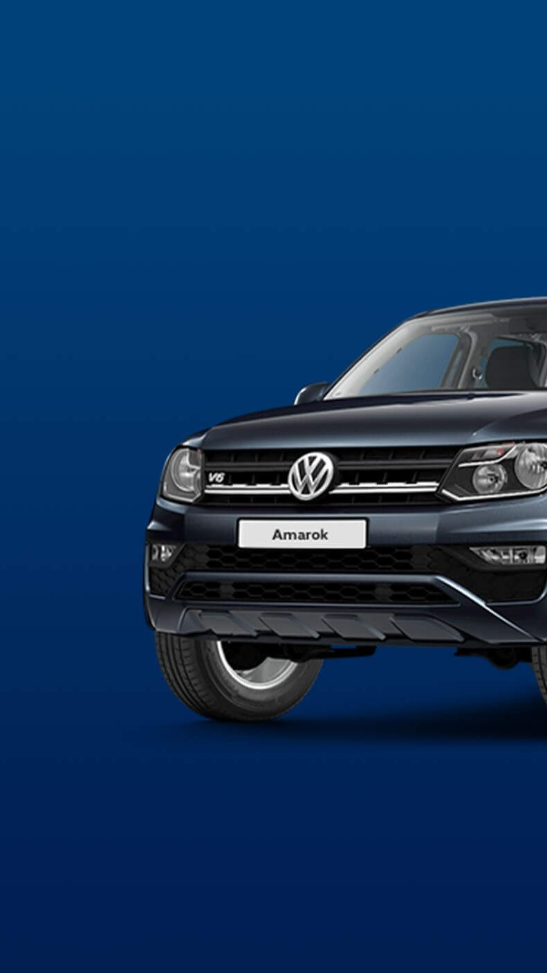 Exterior view of the Amarok pickup in blue black