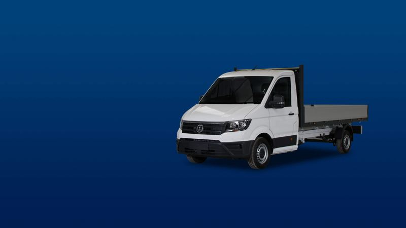 Crafter Dropside van conversion offers banner