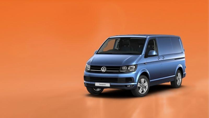 VW Transporter van in studio