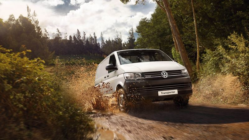 VW Transporter van with 4Motion all-wheel drive