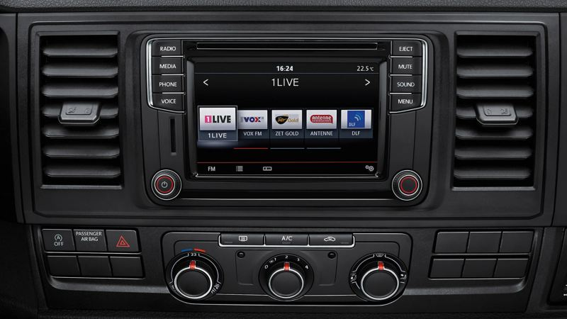 VW DAB+ media system in dashboard