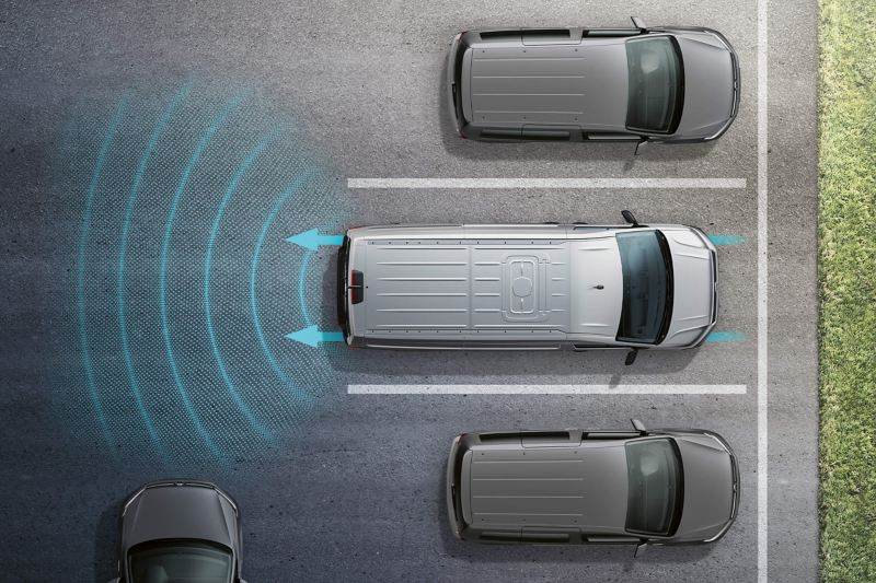 Technology lane park assist diagram