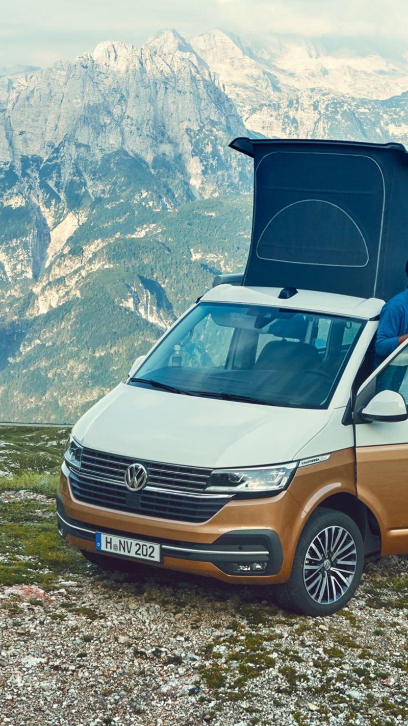 VW California på tur i fjällen