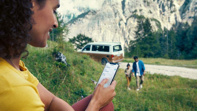 Styr funktioner så som uppvärmning av VW California med appen We Connect