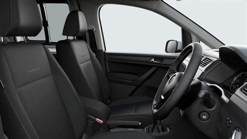 Caddy Alltrack Interior with folding seats