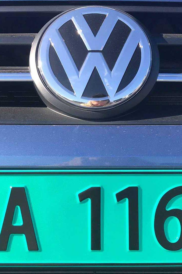 vw Volkswagen Caddy TGI biogass gassdreven varebil liten miljøvennlig familiebil bilskilt