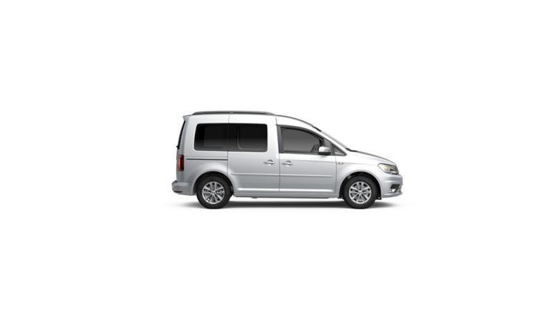 Volkswagen Caddy kuvattuna sivusta