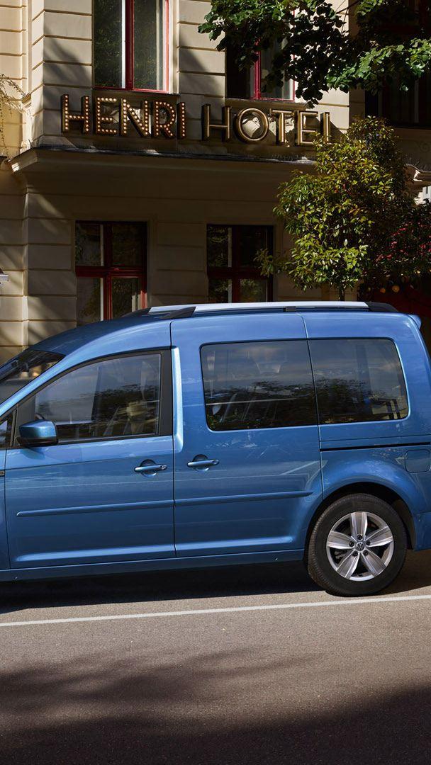 blue caddy trendline side view