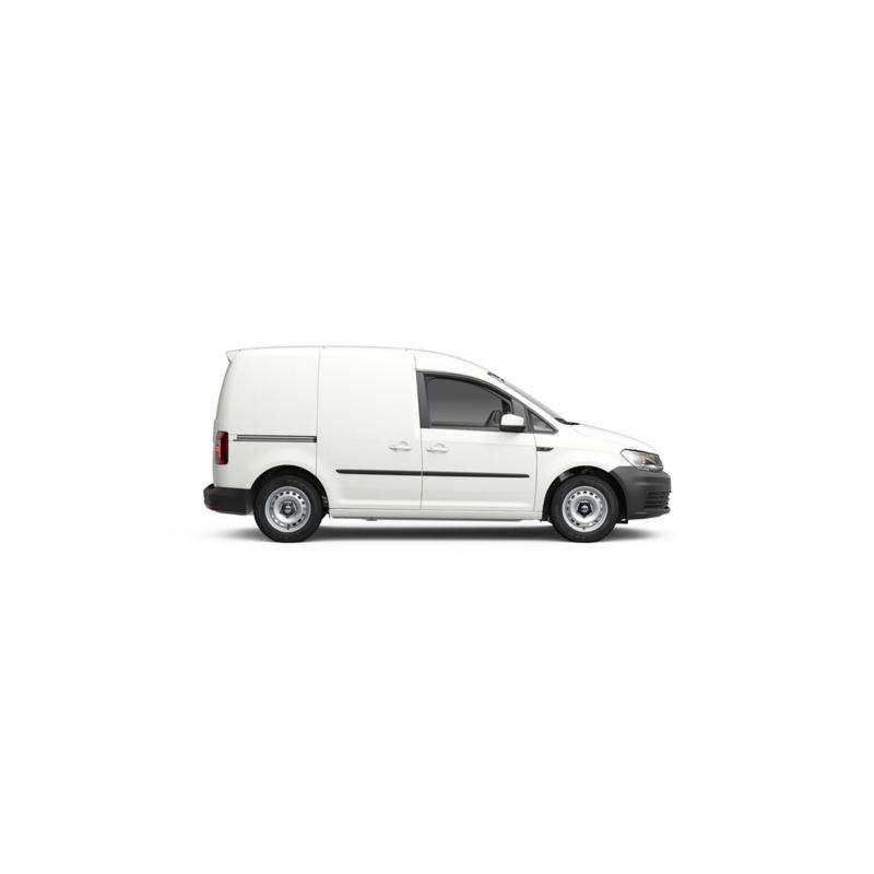 Volkswagen Caddy kuvattuna sivusuunnasta