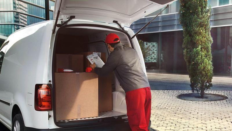 Caddy Cargo Van zona de carga.