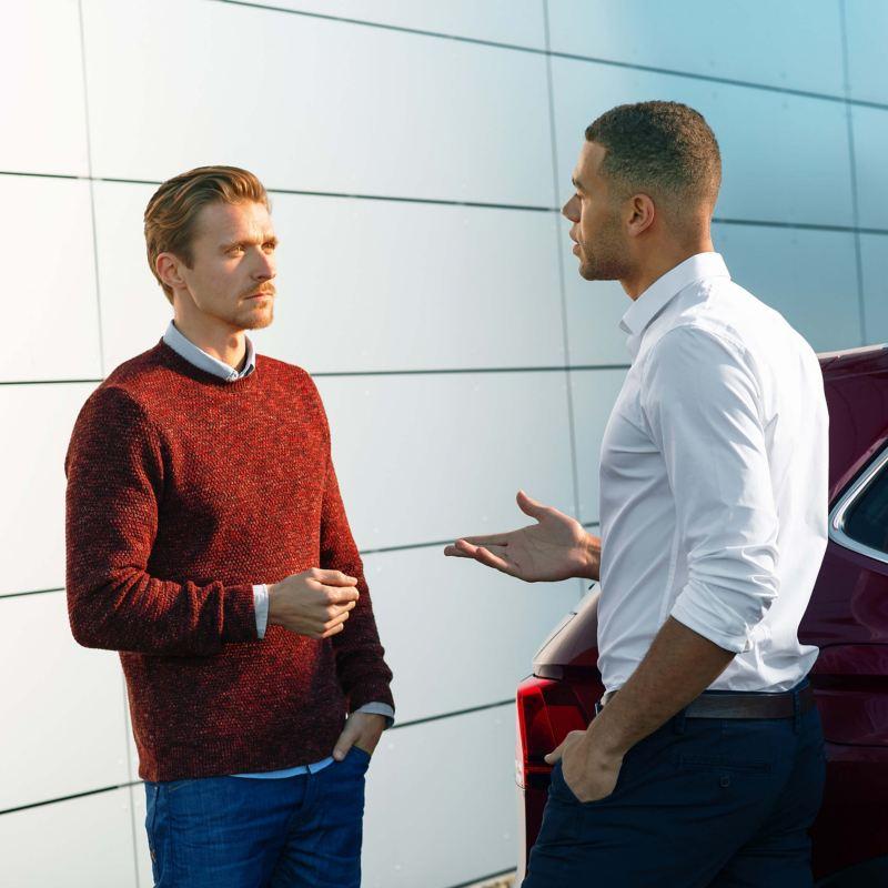 Volkswagen retailer with customer