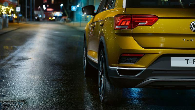 Night shot of Volkswagen car  in street