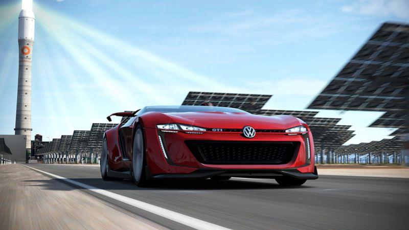 Carro deportivo GTI de Volkswagen disponible en videojuegos