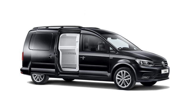 Volkswagen Caddy w zabudowie chłodnia/izoterma na seryjnym furgonie.