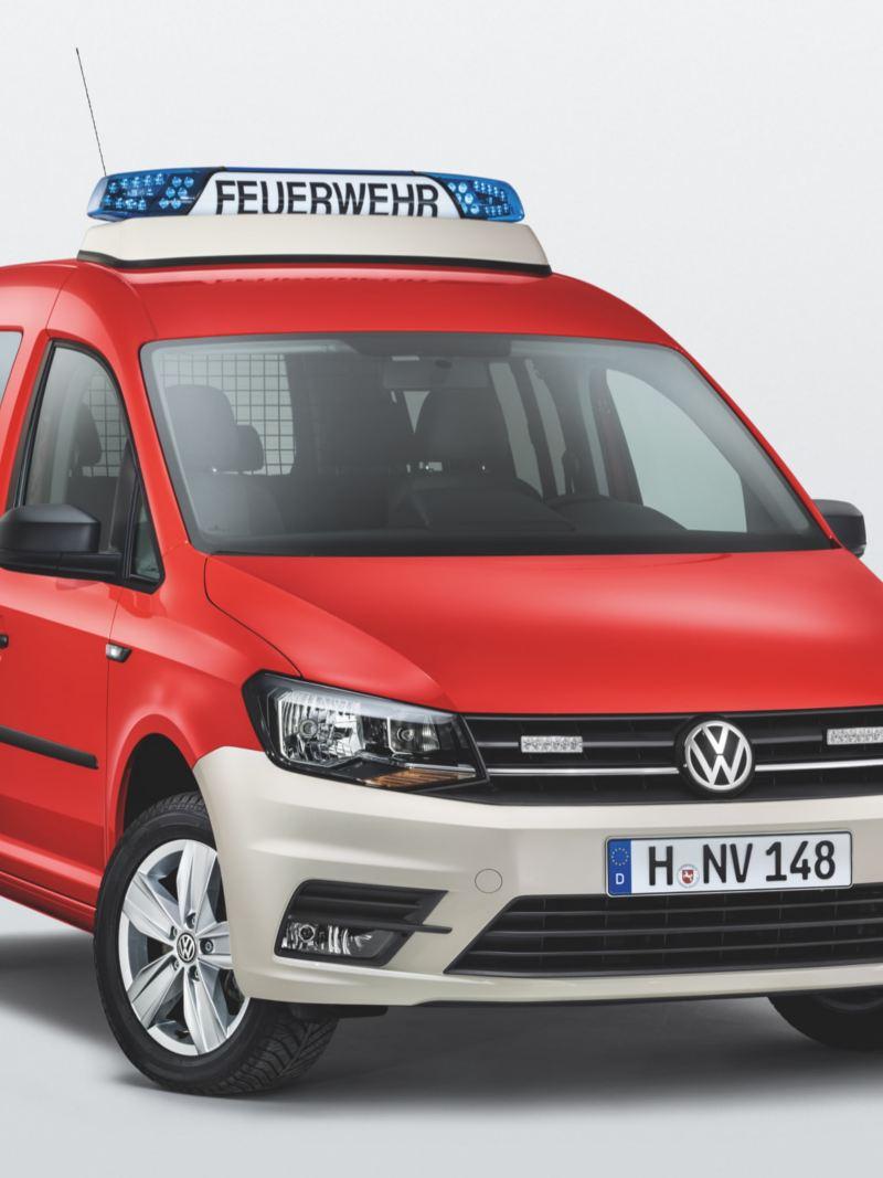 VW Caddy ombyggd till räddningsfordon