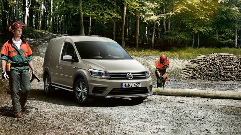 VW Caddy Skåp Alltrack i skogen