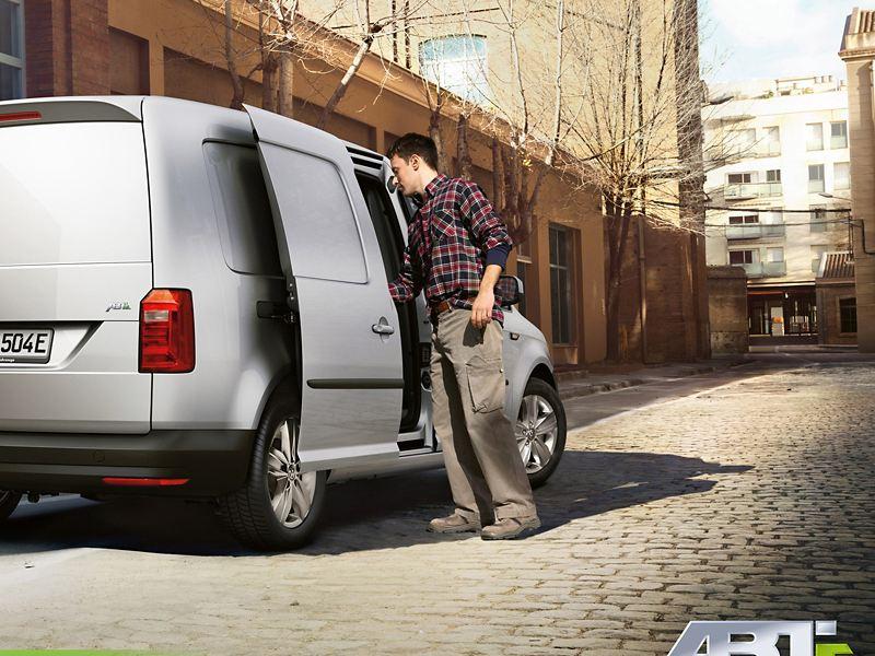 ABT e-Caddy el varebil elektrisk varebil elvarebil taxi drosje by kontorbygg mann