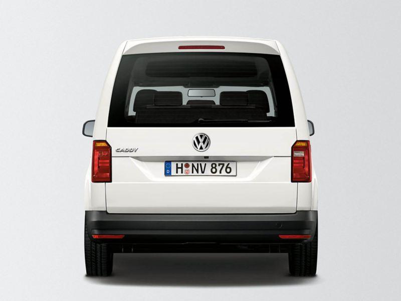 Baklucka med fönster på en VW Caddy Skåp