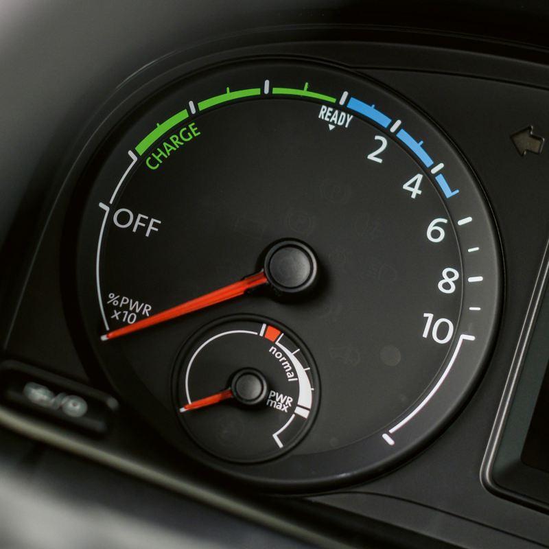 Il display dell'ABT e-Caddy con indicazione del livello di carica.
