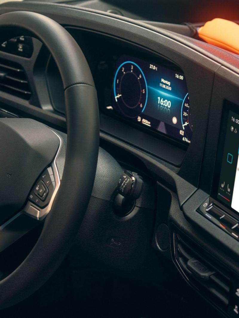 Das Innovision Cockpit im neuen Volkswagen Caddy Cargo.