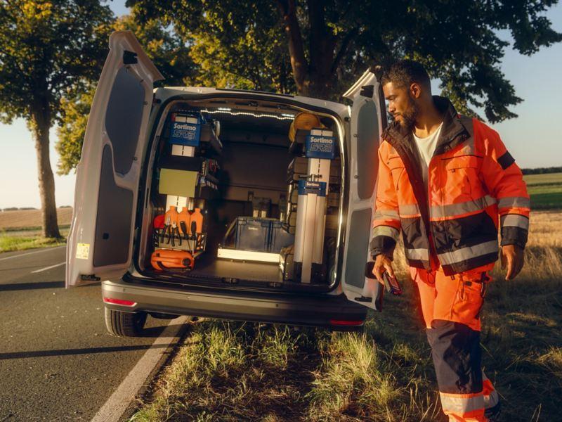 Der neue VW Caddy Cargo im Einsatz als Mobile Service Unit.