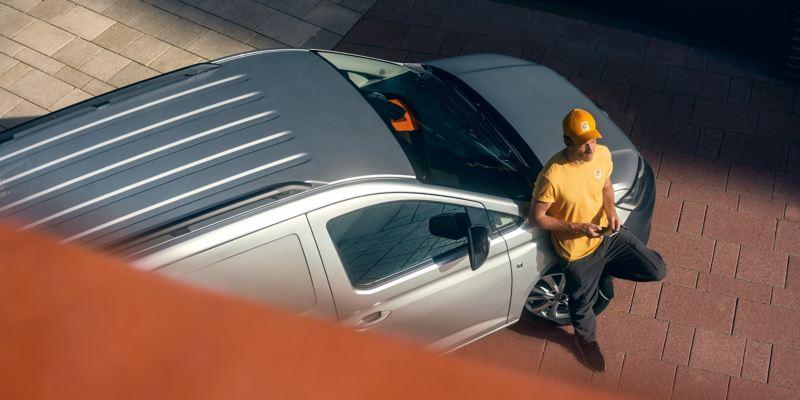 Der neue Volkswagen Caddy Cargo von oben.